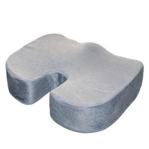Ultra Comfort Memory Cojín de espuma Cojín ortopédico Cojín de asiento Almohada Dolor de espalda para la solución de la silla de la oficina en casa Gris