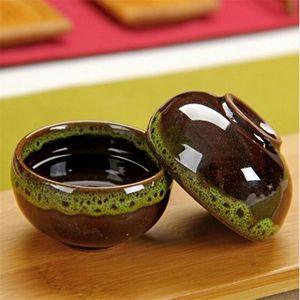 YGS-Y187-Qualitäts-4 PC / Los China Dehua bunte keramische Schale Binglie Teeschale Schöner Umweltschutz