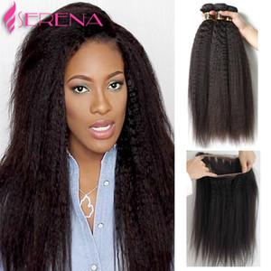 Brasilianisches Haar verworrene 8A 360 Spitze Frontal mit Bundle verworrene gerade Schließung Jungfrau Haar Weben Lace Frontal Schließung mit Bundles