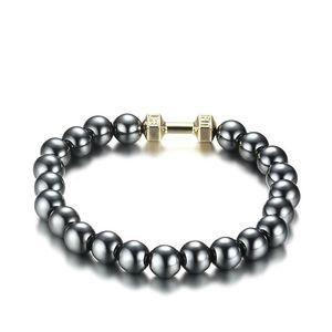 Men's Health Energy Bracelet Fashion Powerful Magnetic Hematite Therapy 8MM Beads Bracelets Jewelry