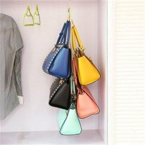 Rear Hooks Free Storage Bag Purse Shelf Hanger Rack Organizer Door 5 Handbag Holder Shipping Kdgvt