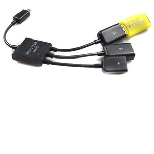 3 1 마이크로 USB 전원 충전 OTG 허브 케이블 어댑터 변환기 익스텐더 휴대 전화 삼성 갤럭시 200 개