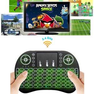 Rii I8 Smart Fly Air Mouse Retroiluminación Remota 2.4 GHz Teclado Inalámbrico Control Remoto Touchpad Para S905X S912 TV Android Box X96 A95X
