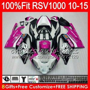 Injeção Para Aprilia RSV1000R 2010 2011 2012 2013 2014 2015 Rosa Rosa 77NO52 RSV1000 Mille R RSV 1000R RSV1000 10 11 12 13 14 15 Carenagem