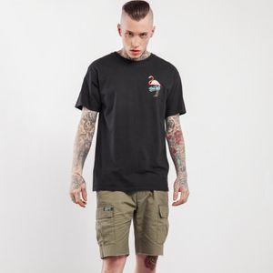 Nuevo diseño de los hombres de algodón de verano camiseta O cuello de manga corta camiseta Flamingo pájaro de impresión de los animales camiseta de estampado animal IN