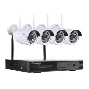 4ch 1080P беспроводная система видеонаблюдения NVR wifi 2.0 MP ИК открытый пуля P2P IP-камера водонепроницаемый комплект видеонаблюдения