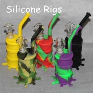 Silicon Oil Drum Rigs Silicone Narghilè Bong Silicon Dab Rigs Cool Shape tappetini in silicone dab buona qualità e spedizione gratuita DHL