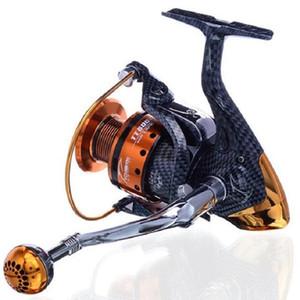 Hlq Saltwater Carretel De Pesca Nova Chegada de Metal Fiação Carretel Pesca 2000 ~ 6000 Series 12 + 1BB 5.1: 1 Frete Grátis