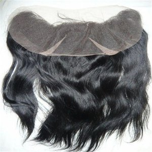 Brazilian Straight Lace Frontal Closure Unprocessed Virgin Human Hair Closures 13x4 Inch Size With Baby Hair