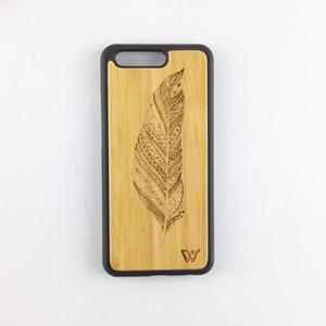 Per Huawei P10 P10 più legno di bambù copertura del telefono cellulare con TPU morbido paraurti duro PC posteriore in legno custodia protettiva