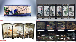 6 stile buona arte classica cinese lacca lavoro manuale pittura decorazione di natale regalo buon regalo di natale