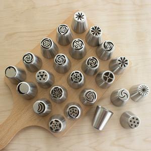러시아 스테인레스 스틸 장식 입을 성형 꽃 케이크 베이킹 도구 세트 쿠키 크림을 형성