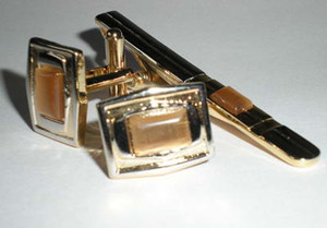 Ensemble pour hommes Cuff Link Pince à cravate BOUTONS DE MANCHETTE, manchette bouton épingle à cravate Coffret cadeau 20 sets / lot NEW DESIGN