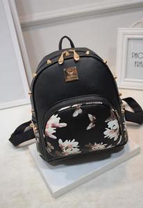 النساء حقائب الظهر 3d الطباعة الأزهار بو الجلود البوليستر حقيبة الإناث العصرية مصمم الحقائب المدرسية المراهقين نايلون السفر mochilas