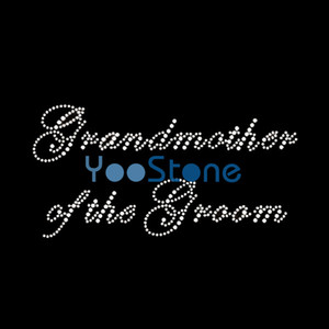 Grandmother Of The Groom Rhinestone Transfer Iron On Hotfix Motif Hot Fix Applique