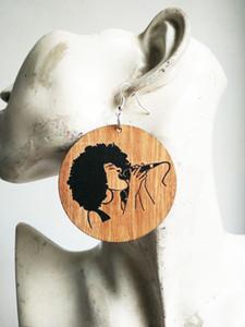 무료 배송 2017 새로운 아프리카 locs 패션 아프리카 아가씨에 대 한 머리 나무 귀걸이, 섞어 수 있습니다.