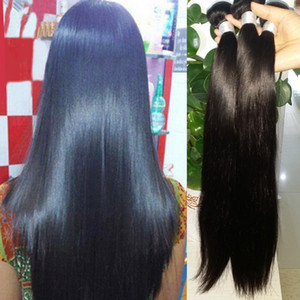 Indian Human Remy Virgin Hair Pein Shet Weages Tejidos sin procesar Extensiones de cabello Color natural 100 g / paquete Doble trama 3bundles / lote