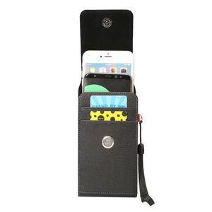 2 Yuvaları Evrensel PU Deri Cep Cep Telefonu Kemer Klipsi Kapak Çanta Deri Kılıfı iPhone 6 6 s 7 Artı Samsung Galaxy S7 S7 Kenar