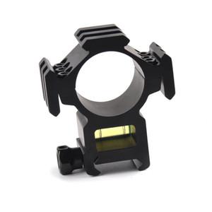 트라이 레일 라이플을위한 30mm 링 20mm Picatinny Rail Scope MountSpirit 버블 레벨