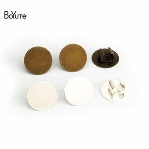 BoYuTe 100Pcs 12MM 카보 숑베이스 헤어 로프 걸쇠 클립 베젤 트레이 Diy Jewelry Findings Components