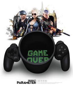 2017 Game Over Ceramic Mug 복고풍 게임 패드 컨트롤러 커피 머그잔 게임 스타일 Office Cups 세라믹 머그잔