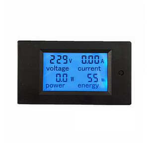 New 4 in 1 meter Voltage Current Power Energy meter Gauge AC 80-260V 20A voltmeter Ammeter Watt Power Meter Free Shipping