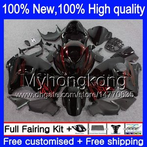 GSX Bodywork 15lq Suzuki Hayabusa GSXR 1300 02 03 04 05 06 07 para kit Black GSXR-1300 R1300 96 97 Cuerpo rojo 00 01 Nuevo GSXR1300 99 Fairin NSIP
