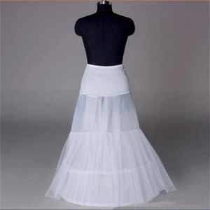 New White Petticoats 2 Hoop 2 Layers Bride Formal Dress Sottogonna Crinoline Small Fishtail Corset Accessori da sposa