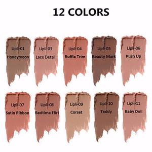 Nuovi 12 colori NY Lipstick Lip Lingerie Matte Liquid Liquid Liquid Lip Impermeabile Lip Gloss Lunga durata Rossetto Trucco Maquillage Spedizione gratuita