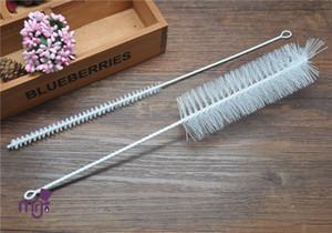 Großhandel-1 Satz Pinsel für Shisha Shisha Pfeifenreiniger mit 2 Größe Pinsel Shisha Shisha Pfeife Werkzeuge Metall Pfeifenreiniger Zubehör