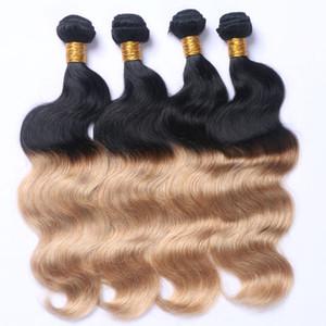 Foncé Ombre Fraise Blonde Deux Tons 1b 27 Couleur Blonde Bundles Trame De Cheveux Humains Ombre Cheveux Tisse