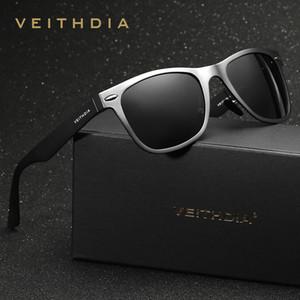 Veithdia marka unisex alüminyum kare erkek polarize ayna güneş gözlükleri kadın erkekler için eyewears aksesuarları güneş gözlüğü vt2140