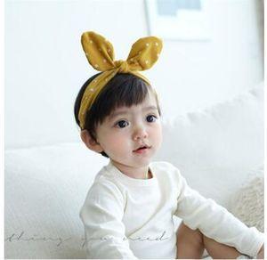 Enfants lapin oreilles bandeaux pur coton tissu art bandeaux cheveux accessoires bonne qualité bébé lapin oreille hairband photographie accessoires