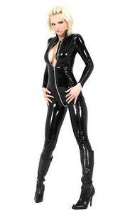 peça sexy Cosplay Halloween preto da roupa PVC Jogo couro artificial cueca divertido