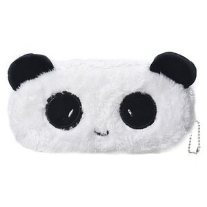 Wholesale- Kids Cartoon Pencil Case Plush Large Pen Bag Cosmetic Makeup Cartoon Storage Bag panda