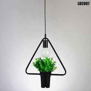 lampadario a sospensione lampadario in cristallo chihuly lampadari in stile piante geometriche pentola in ferro quadrato rotondo lampadario sospensione per ristorante arredamento