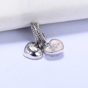 Fit Pandora Bracelets Charmes Perles Meilleur Ami Toujours Il CZ 100% Authentique Charms Argent Sterling Perles pour La Fabrication de Bijoux Cadeau DIY