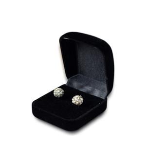 День 5шт Оптовая Обручальное кольцо Black Velvet Box Jewelry хранения дисплея Складная чехол для обручального кольца Валентина Подарок Организатор