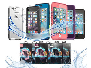Leben-wasserdichter Fall des Verkaufs 2018 heißer für iPhone X 6 6s iphone 7 7 plus fre Wasserdichter Fall Kleinverpackung freies Verschiffen