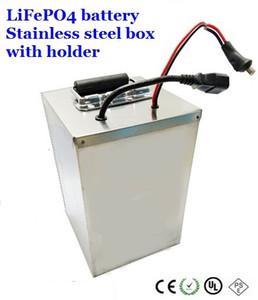 Caricabatterie gratuito Pacco batteria 60V 40Ah LiFePO4 gratuito con scatola in acciaio inox bms per moto scooter elettrico bici