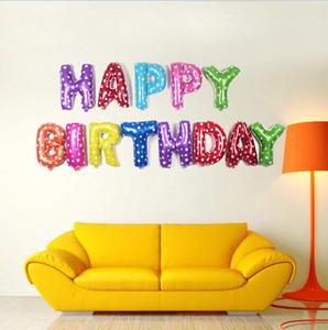 Palloncini in foglio di alluminio Decorazione per feste Happy Birthday Letters Palloncini Baby Kids Compleanno Decorazione di cerimonia nuziale Elio Ballons G610
