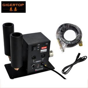 A máquina do jato do CO2 conduziu o dispositivo do CO2 do efeito de fumo GIGERTOP Iluminação do estágio com 2 tubulações A tomada do plugue 90V-240V + 512 DMX 6 mede