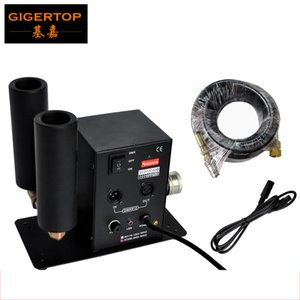 CO2 Jet Machine Led Smoke Effect Dispositivo Co2 GIGERTOP Stage Lighting con 2 tubi 90V-240V Plug + 512 DMX 6 Meter