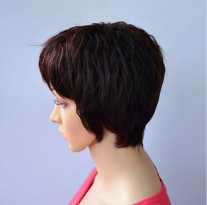 Toptan peruk stigma küçük hacimli eğimli bang kısa kıvırmak saç Kadın performans jiafa büyükanne paket posta göndermek peruca Cosplay peruk