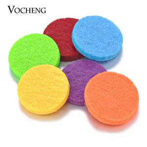 Almohadillas de fieltro de colores 22mm Almohadillas de aceite para 30mm Perfume Locket Difusor de aceite esencial Accesorios Locket 15 colores VA-317