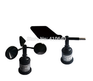 Freeshipping Rüzgar Yönü Sensörü + Rüzgar Hızı Sensörü RS485 / RS232 / 4-20mA / 0-5 V Çoklu Güç Kaynağı Ve Çıkışı Mevcut