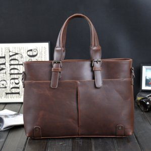 New Fashion Bags Handbags Men Famous Brand Messenger Bags Crazy Horse Genuine Leather Briefcase Mens Laptop Handbag Bolsas Man Travel Bag