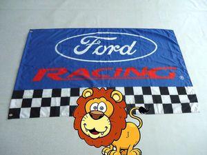 ford участвуя в гонке флаг для выставки автомобиля, Знамени ford, размера 3X5 ft, полиэфира 90*150cm 100%