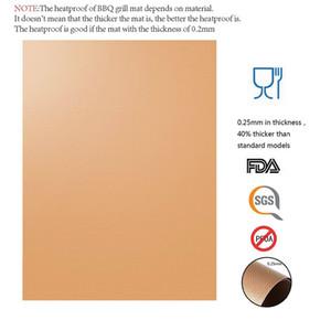 Cobre Grill Mat 100% antiadherente Parrilla para hornear Mats aprobado por la FDA PFOA libre reutilizables y fáciles de Obras limpias en el gas de carbón
