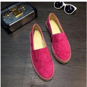 Femmes Mocassins espadrilles Solide Couleur Nubuck Véritable Cuir Suede zapatos mujer sapato feminino espadrille Classique de la marque Flats